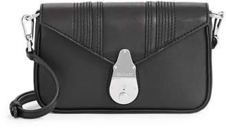 Calvin Klein Mini Heritage Lock Statement Series Leather Crossbody Bag