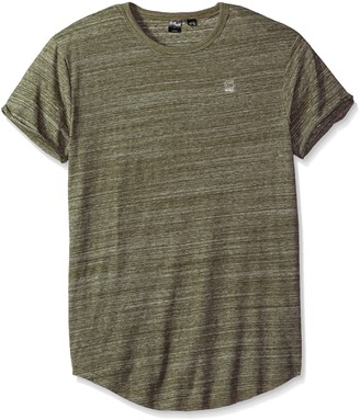 G Star Men's Vontoni Crew Neck Short Sleeve Scalloped High Low T-Shirt