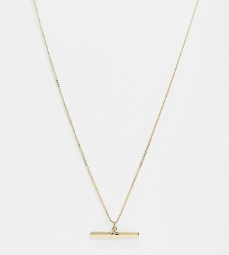 Topshop House Of Freedom House of Freedom by t bar chain necklace in gold plate