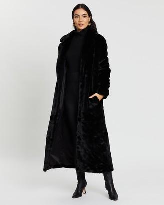 Unreal Fur Women's Black Winter Coats - Black Bird Coat - Size One Size, XXXL at The Iconic
