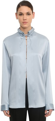 Haider Ackermann Braided Collar Viscose Blend Shirt