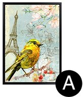 Wall sticker MiniWall MiniWall American Village Paintings Of Bird Painting Your Living Room Sofa Wall Paintings Decorate The Bedroom Bed Landscape Paintings Hanging Picture