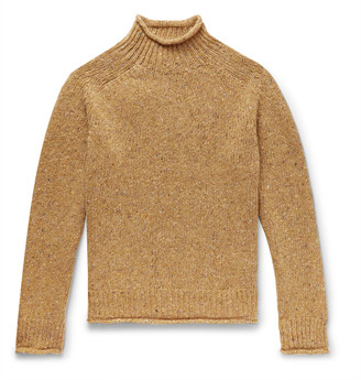 YMC Oversized Melange Merino Wool Rollneck Sweater