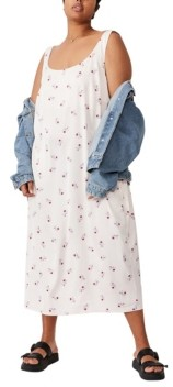 Cotton On Trendy Plus Size Woven Maggie Slip Midi Dress