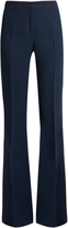Burberry Contrast-stitch flared trousers