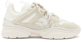 Isabel Marant Kindsay Suede And Mesh Trainers - White