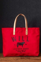 Will Leather Goods Small Classic Carry-All Bag in Red