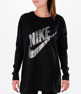 Nike Women's Metallic Long Sleeve T-Shirt