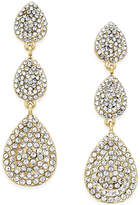 INC International Concepts Pavé Crystal Triple Drop Earrings, Only at Macy's