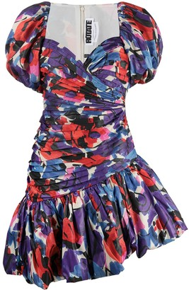 Rotate by Birger Christensen Abstract-Print Puffy Dress