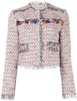 MSGM tweed jacket - women - Cotton/Linen/Flax/Acrylic/Metallic Fibre - 46