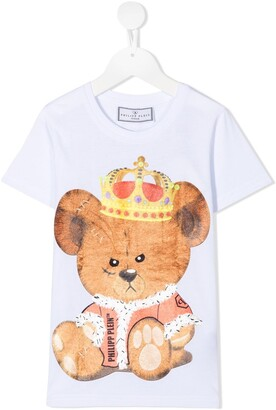 Philipp Plein teddy bear logo print T-shirt