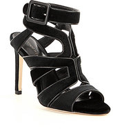 Antonio Melani Velvet Avett Ankle Strap Buckle Stilletto Dress Sandals
