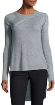 Elliatt Fire High-Low Sweater Tunic, Gray