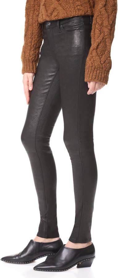AG Jeans The Skinny Leather Pants