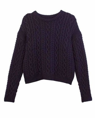 Meadows Mayflower Cropped Sweater Navy - 8