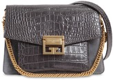 Givenchy SMALL GV3 CROC EMBOSSED LEATHER BAG