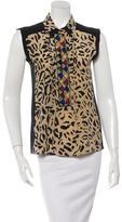 Etro Silk Leopard Print Top