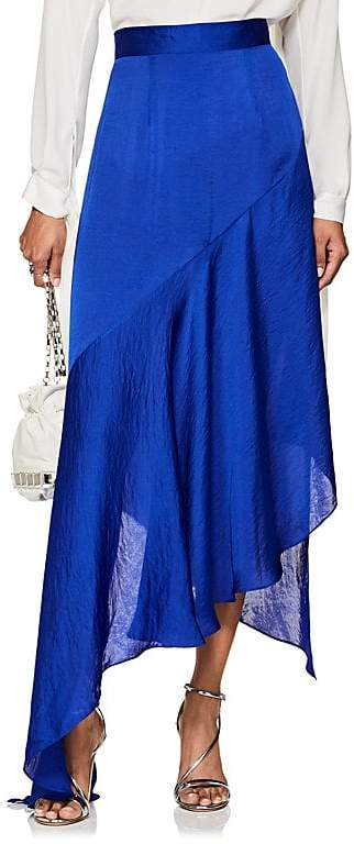 Juan Carlos Obando Women's Washed Satin Asymmetric Skirt