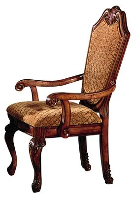 Astoria Grand Alfort Queen Anne Arm Chair Color: Cherry