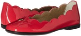 Armani Junior Patent Leather Ballet Flat Girls Shoes