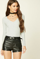 Forever 21 FOREVER 21+ Scooped Ribbed Knit Top
