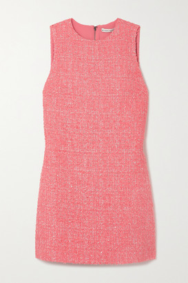 Alice + Olivia Coley Sequin-embellished Metallic Tweed Mini Dress