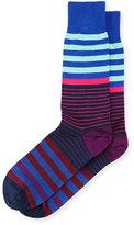 Paul Smith Multicolored Dual-Stripe Socks, Navy