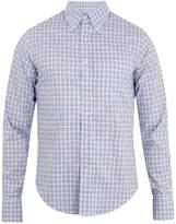 Prada Button-down collar checked cotton shirt