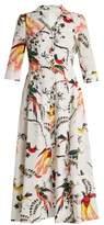 Erdem Kasia Paisley Parrot-print cotton shirtdress