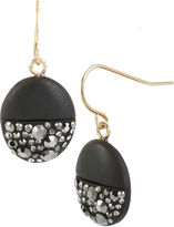 Kenneth Cole NEW YORK Round Pendant Earrings with Crystal Accents