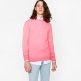 Paul Smith Men's Pink Merino Wool Crew Neck Sweater