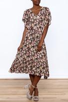 En Creme Belted Floral Maxi