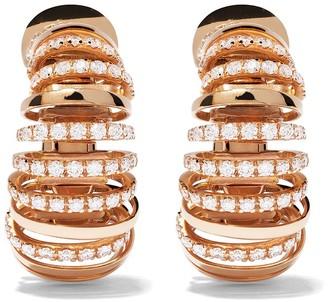 Mattia Cielo 18kt rose gold diamond Pavone earrings