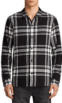 Allsaints Allsaints Matterhorn Long Sleeve Printed Shirt, Black