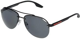 Prada Linea Rossa PS 52VS (Matte Black/Polarized Grey) Fashion Sunglasses