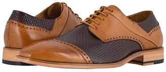 Stacy Adams Vilas Cap Toe Oxford (Tan/Brown) Men's Shoes