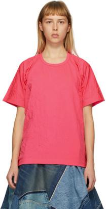 Junya Watanabe Pink Wrinkled T-Shirt