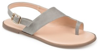 Brinley Co. Womens Slingback Crossover Sandal