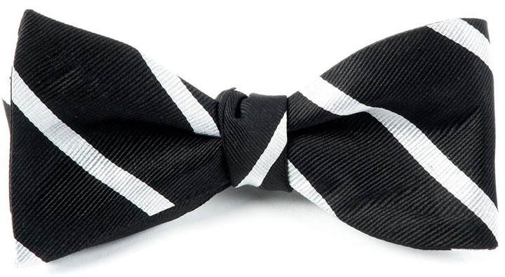 "Men/'s Formal Bow Tie ""Ritz"" by Perry Ellis Black and White Polka Dot"
