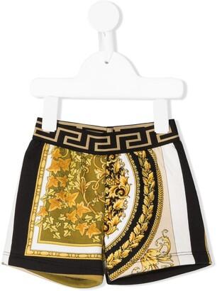 Versace Barocco-print track shorts