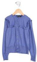 Little Marc Jacobs Girls' Ruffle-Trimmed Knit Cardigan