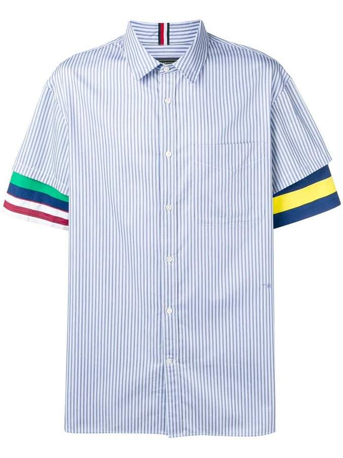 50f276f1a Tommy Hilfiger Blue Men's Shortsleeve Shirts - ShopStyle