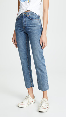 RE/DONE High Rise Rigid Stove Pipe Jeans