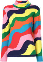 Mira Mikati wave pattern knit top