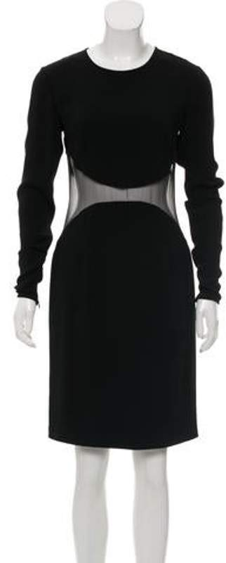 Stella McCartney Mesh-Accented Sheath Dress Black Mesh-Accented Sheath Dress