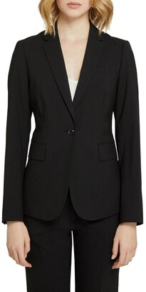 Oxford Alexa Black Wool Stretch Suit Jacket