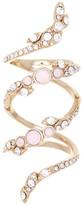 Jenny Packham Pave Crystal & Glass Vine Ring - Size 7