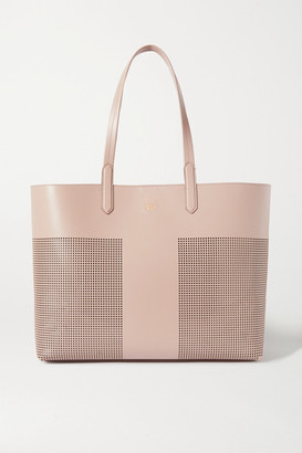 Tom Ford Large Laser-cut Leather Tote - Taupe