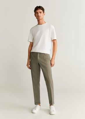 MANGO MAN - Slim-fit linen pants khaki - 28 - Men